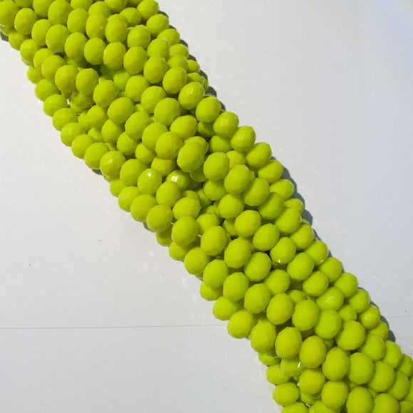 CG 6x8mm facetd rondel lime yellow 70p