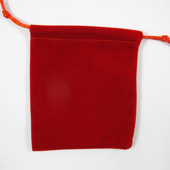 Faux suede 150mm x 110mm gift bag red