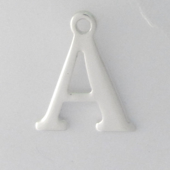 Sterling sil 12mm letter A 1pc