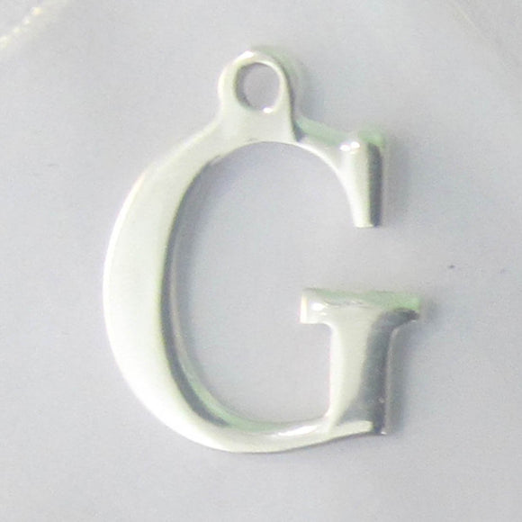 Sterling sil 12mm letter G 1pc