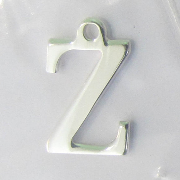 Sterling sil 12mm letter Z 1pc