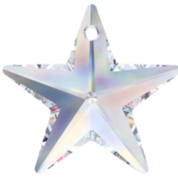 Swarovski 20mm 6714 star pendant CRY AB