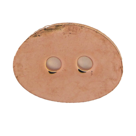 Metal 14x10 oval button clasp NF RGLD 20