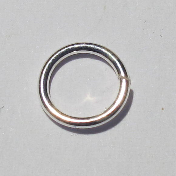 Sterling sil 6.5x.8mm jumpring 10pcs