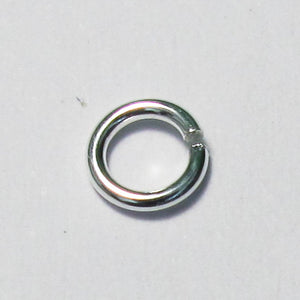 Sterling sil 4.5mmx.8mm HARD jumpring10p