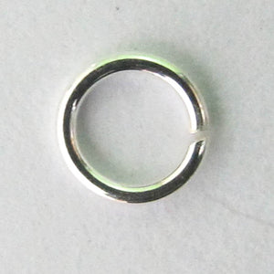Sterling sil 4mmx..6mm jumpring10p