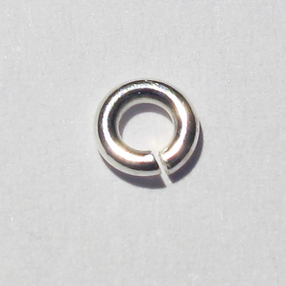 Sterling sil 4mm x 1mm jumpring 10pcs