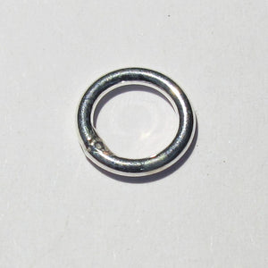 Sterling sil 8mm x 1.2mm SOLD ring 6pcs