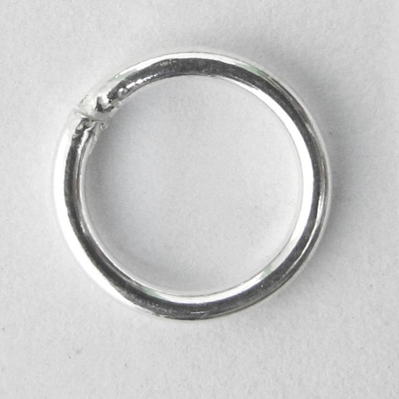 Sterling sil 10x1.2mm SOLD jring 2pcs