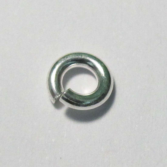 Sterling Sil 6mm x 1.5mm jumpring 4pcs