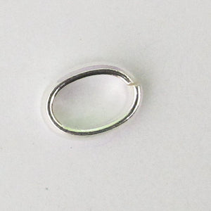 Sterling sil 9x6mm x2m thick j ring 2pc