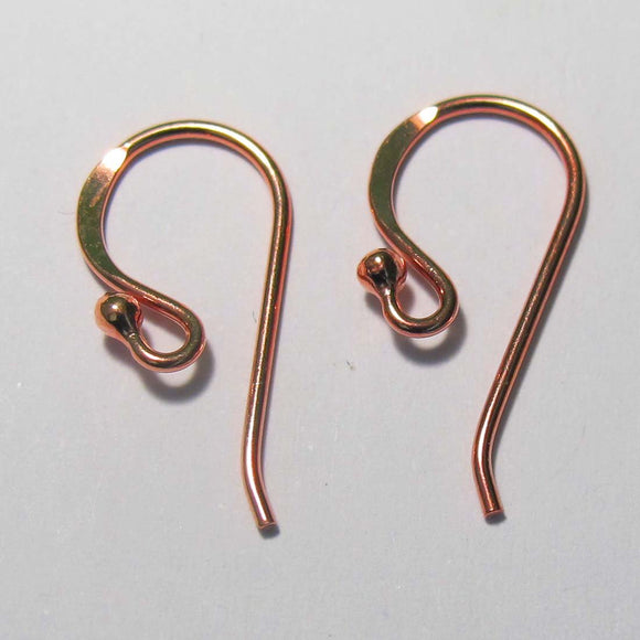 ROSE GOLD Sterling sil 20mm E/H 2pcs