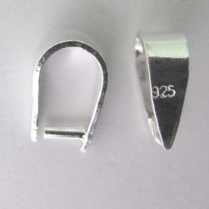 Sterling sil 7mm removable bail 2pcs