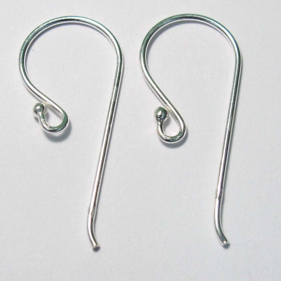 Sterling Sil 28mm E/R Hook 0.9mm BIG 4pc