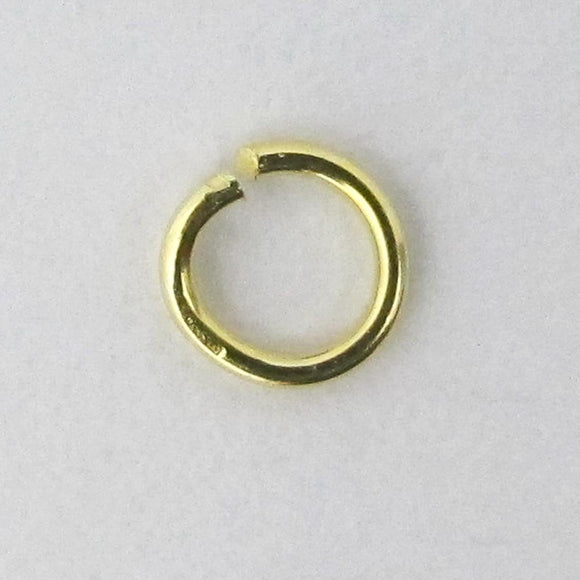 14K Gold Sterling Sil 4.5mmx.7mm jring 8