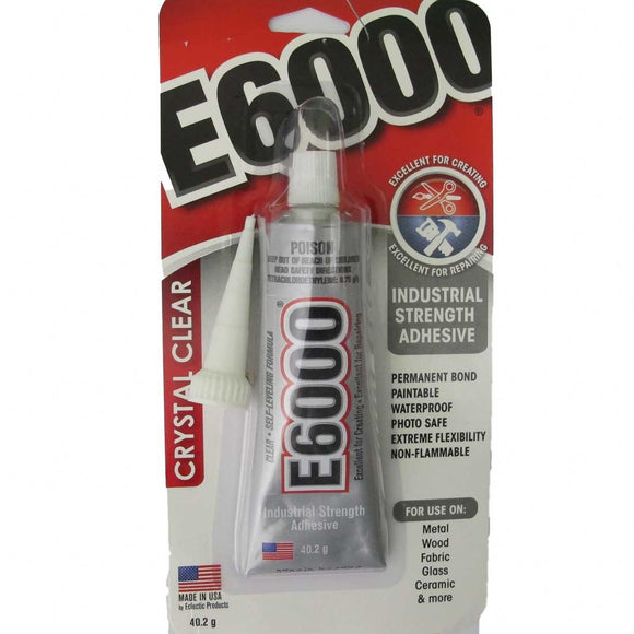 Glue E6000 .1.oz 29.5ml 1 tube.with tip