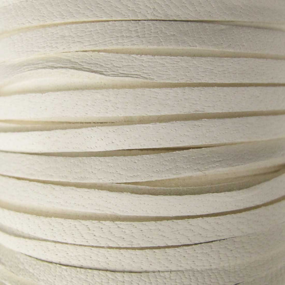 Deerskin 3mm lace white 15metres