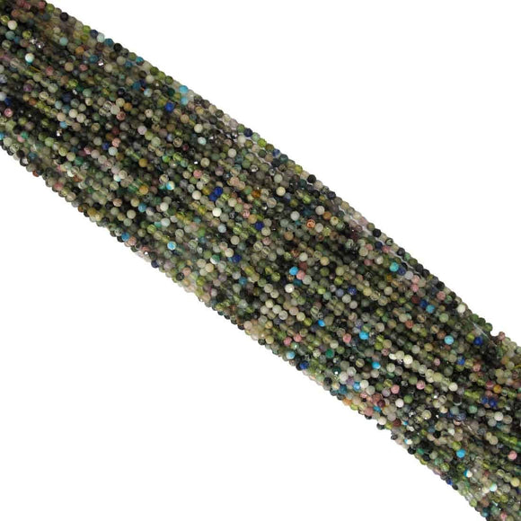 Semi prec 3mm facet mix nat stone 120+p