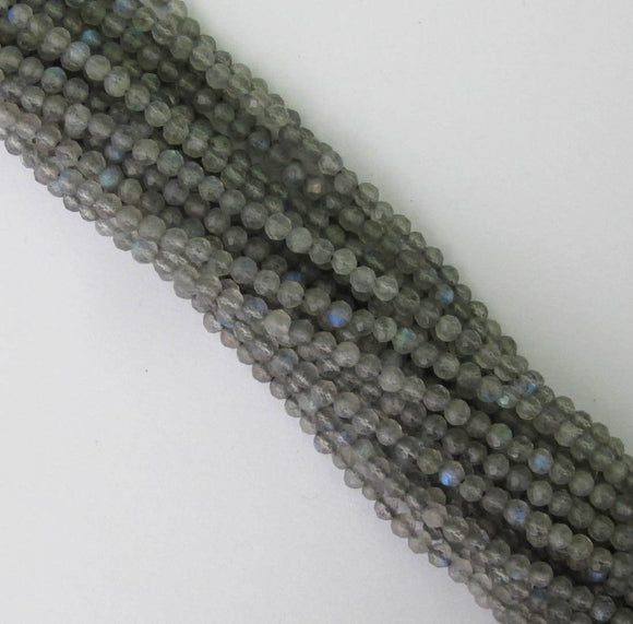 Semi prec 3mm rnd factet labradorite 110