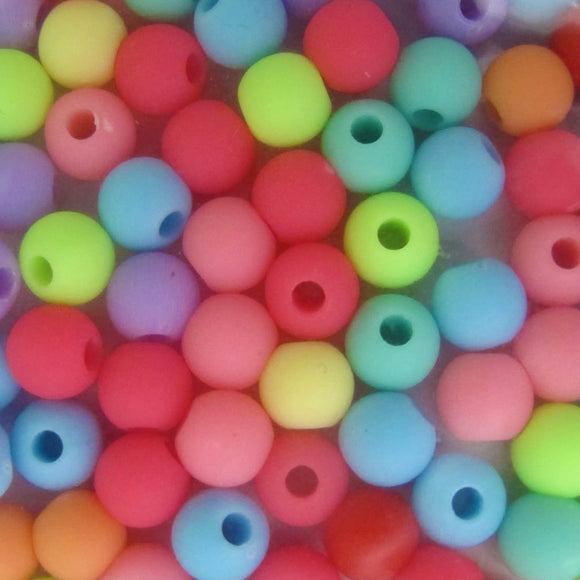 plas 4mm rnd 1.2mm hole mix bright 200p