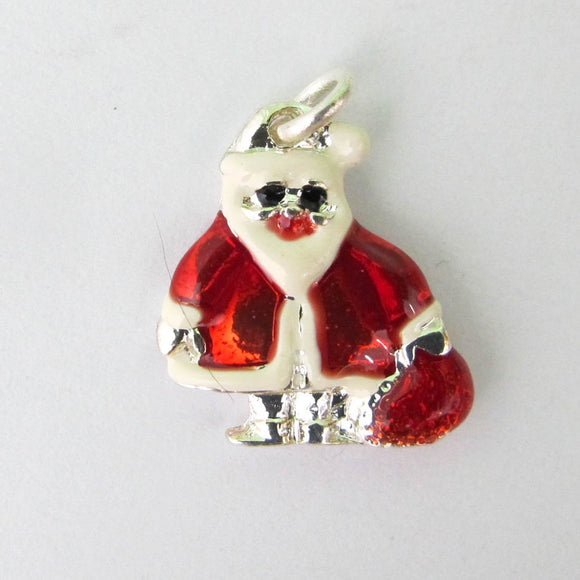 Metal 18mm XMAS SANTA charm 2pcs