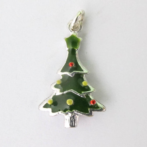 Metal 24mm XMAS tree charm 2pcs