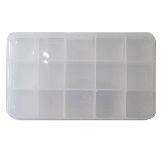 plas box 17cmx9.5cmx2cm 15 compartm 1pcs