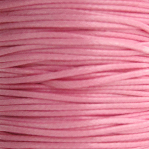 Cord 1mm HQ Woven light pink 38metres
