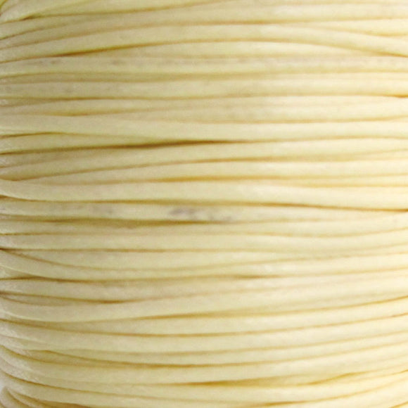 Cord 1mm HQ Woven cream 38metres