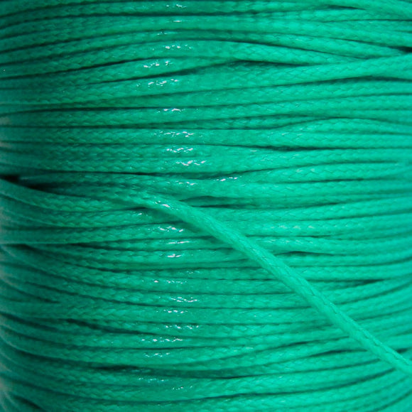 Cord 1mm HQ Woven lgt turquoise 38metres