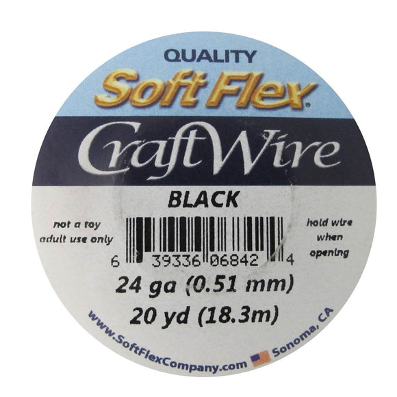 Wire 24 gauge black 18.3m