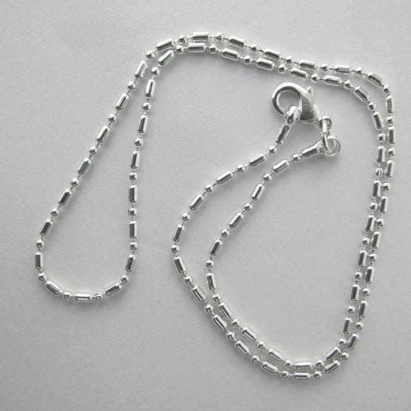 Jewellery 36cm ball/bar chain NF SIL 1pc