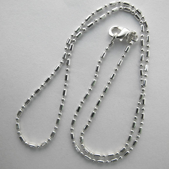 Jewellery 39cm ball/bar chain NF SIL 1pc