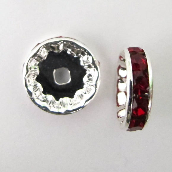 XMASS DECO 12MM DIAMANTE RED 5p