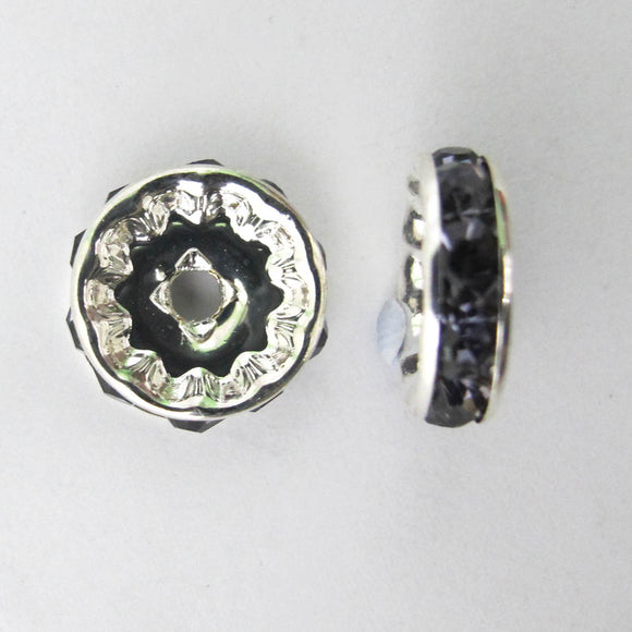 XMASS DECO 12MM DIAMANTE BLACK 5p