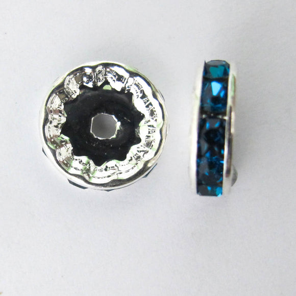 XMASS DECO 12MM DIAMANTE TEAL 5p
