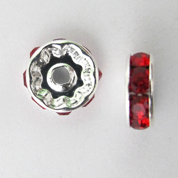 XMASS DECO 10MM DIAMANTE RED 5p