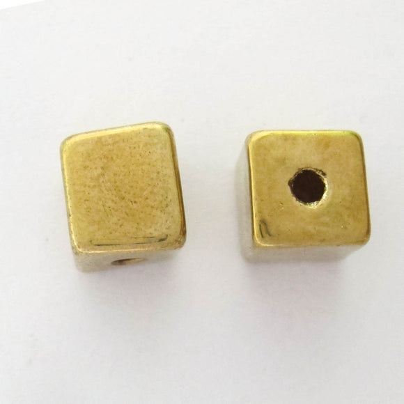 XMASS DECO 10MM CUBE HAT GLD 5pcs