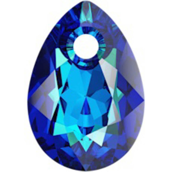 Swarovski 9mm 6433 bermuda blue 2pc