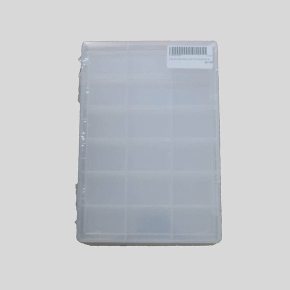 Plas Box 28x19x2cm and 18 compartment 4p