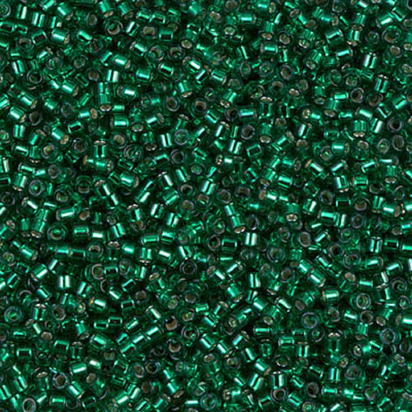 Delica Beads DB 605 SL Dyed Green 5g