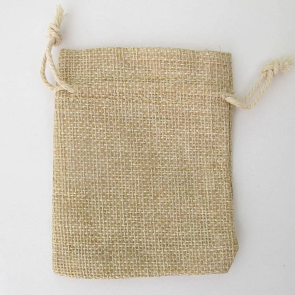 Gift bag 10cm x 8cm natural drawstring 4
