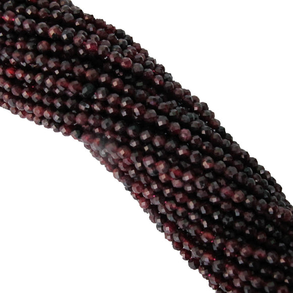 Semi prec 3.5mm rnd faceted garnet 105p