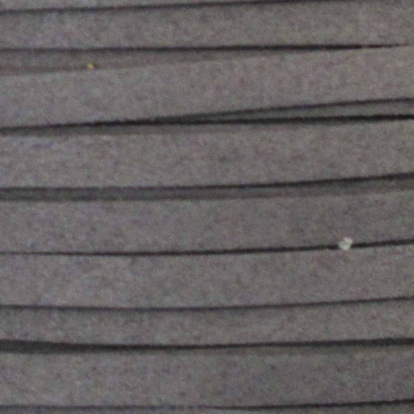 Faux suede 5mm flat charcoal 2metres