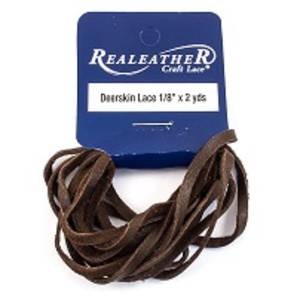 Deerskin 3mm lace chocolate 1.8metres