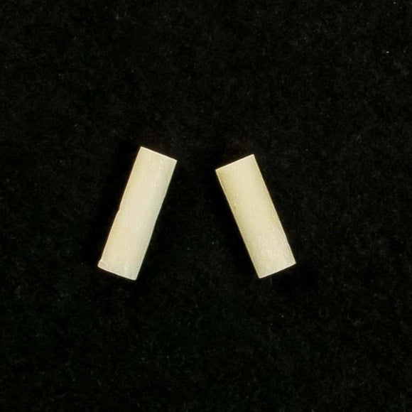 bone 12x4mm pipe white 30+pcs