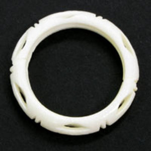 Bone 23mm ring white10pcs