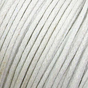 cord .77mm waxed white 25m