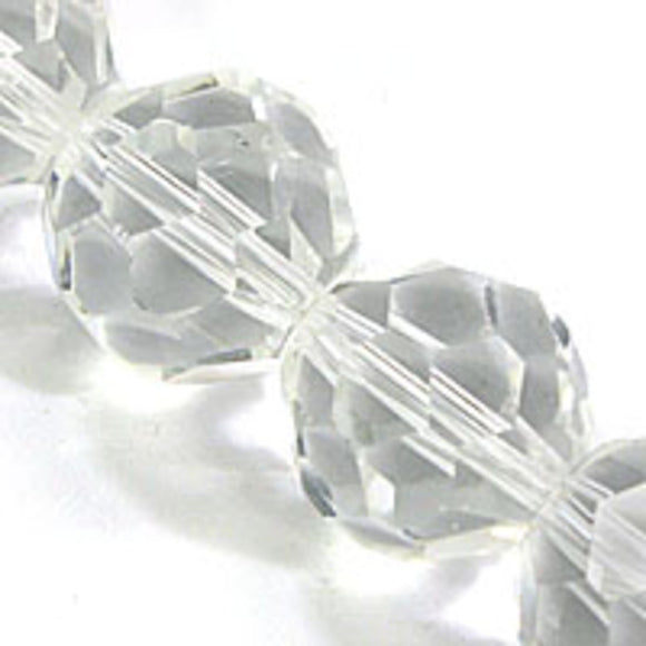 Cg 12mm rnd 32cuts faceted clear 28pcs