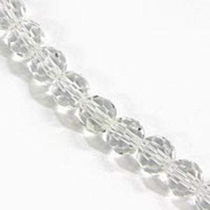 Cg 4mm rnd faceted clear 80pc